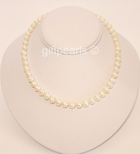 "8 - 9mm lustrous pearls at an amazingly low price!(18"" to 80"")"
